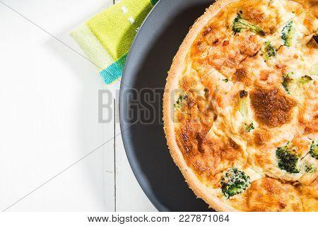 Classic Smoked Salmon And Broccoli Quiche