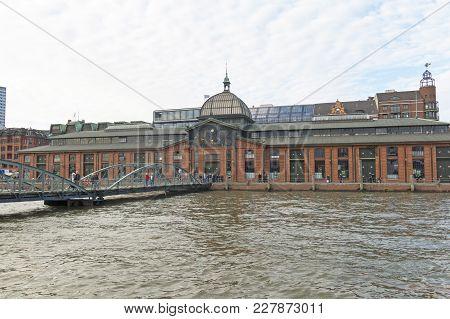 Fischmarkt Building Fish Market At Hamburg, Germany