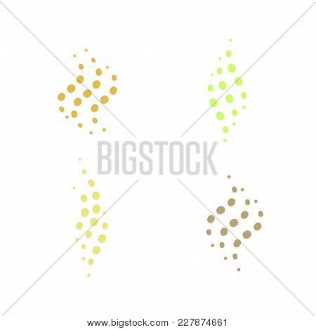 Smell Aroma And Fragrance Sign Set. Stock Vector Illustration Of Odor And Scent By Colorful Circles