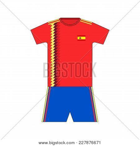 Football Kit. Spain 2018. National Team Equipment. T-shirt