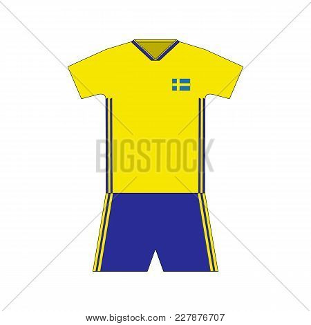 Football Kit. Sweden 2018. National Team Equipment. T-shirt