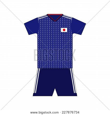 Football Kit. Japan 2018. National Team Equipment. T-shirt