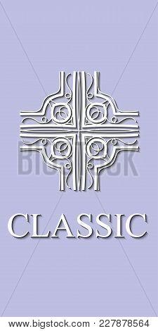 Vintage Geometric Ornamental Logo. Template For Design. Vector Illustration