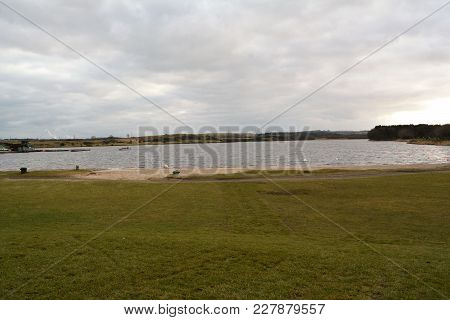 A View Of The Loch At Lochore Meadows Country Park Taken From The Back Of The Visitor Centre.