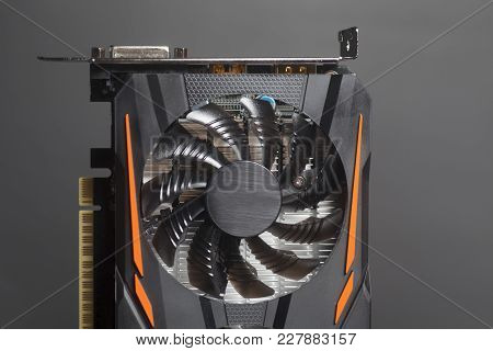 Graphic Videocard For Crypto Currency Mining End Computer Game On Black