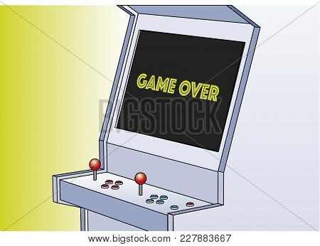 Game Over Arcade Game Machine