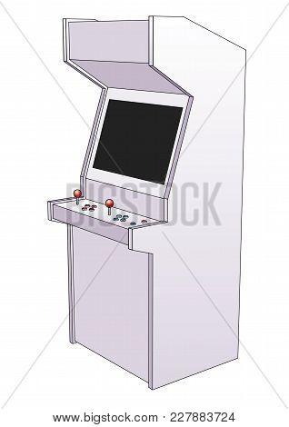 Arcade Game Machine Retro Style