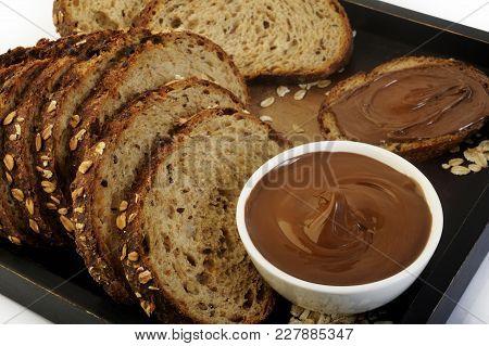 Sweet Chocolate Hazelnut Spread Bread Food Breakfast