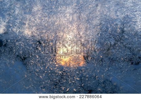 The Glass Is Frosted, Pattern And Snowflakes