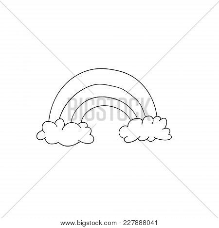 Vector Rainbow Illustration Isolated On White Background. Cute Animal. For Children