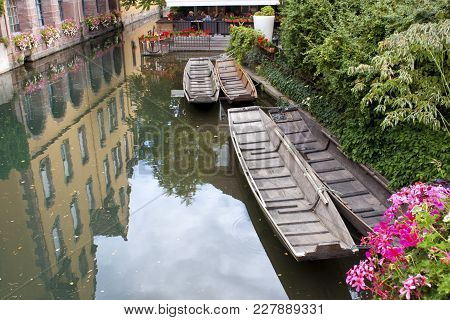 View Of A Channel In Colmar France