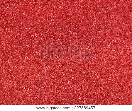 Red Glitter Texture Christmas For Abstract Background