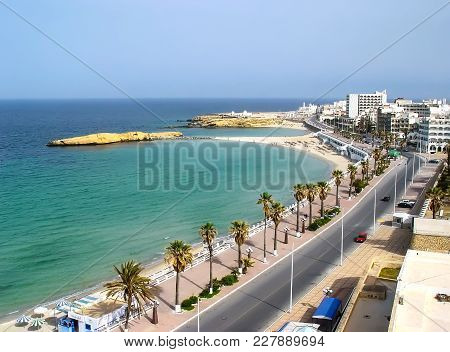 View From The Fortress On The Embankment Of Monastir. Tunisia