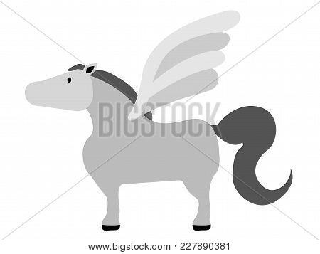 Isolated Cute Pegasus Icon. Vector Illustration Design