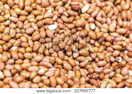 Peanuts As A Background And Texture. Delicious, Nutritious Food.
