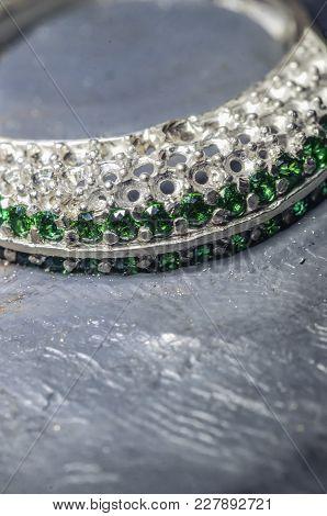 Inlaying Gemstone On The Ring, Macro Photography