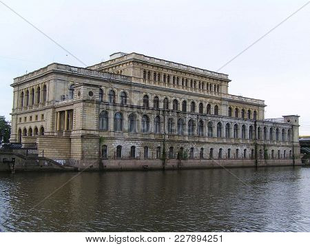 Kaliningrad, Russia; 2011. The Königsberg Stock Exchange Was Built On The Banks Of The River Pregel