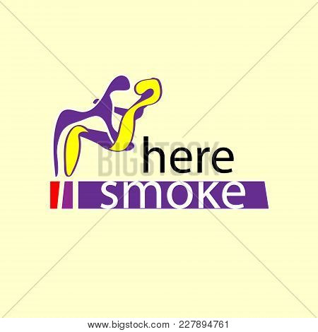 Smoking Area Icon. Embrace The Smoking Here. Here Smoking. Vector Illustration