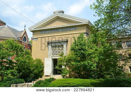 Historical Society In Brown University, Providence, Rhode Island, Usa.