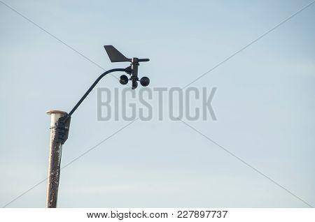 Autonomous Weather Station On The Old White Pole.