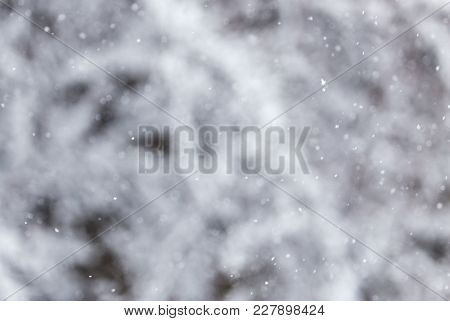 Snow In The Air As A Background .