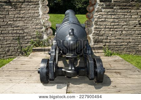 The Historic Piece Of Artillery At Fort York In Toronto Canada