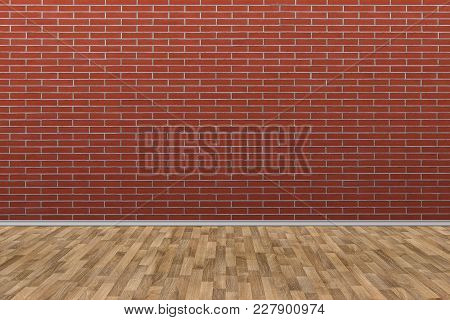 Old Brick Wall With Old Wooden Floor, Old Room Background