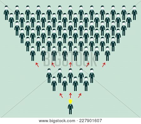 Gossiping People - People Spread Rumors. Stock Flat Vector Illustration.