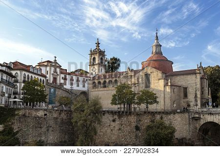 Amarante, Portugal - September 23, 2017: Built In The Sixteenth And Seventeenth Centuries Is The Ren