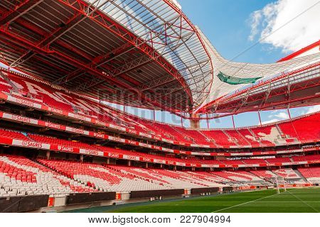 Lisbon, Portugal - February 10: Sport Lisboa E Benfica, A Premier League Portuguese Sports Club Base