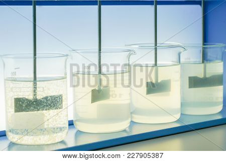 Coagulation Test (jar Test) Wastewater From Industry Plant, Water Quality Test