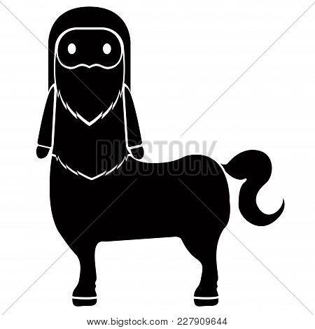 Isolated Cute Centaur Icon. Vecgtor Illustration Design