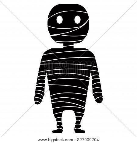 Isolated Cute Mummy Icon. Vector Illustration Design