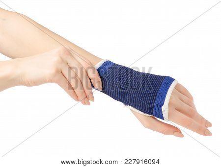 Bandage On The Arm Medical On A White Background Isolation