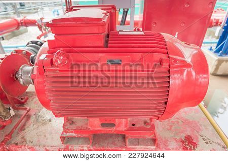 Treated Water Centrifugal Pump In Fire Pump House Of Power Plant Industry