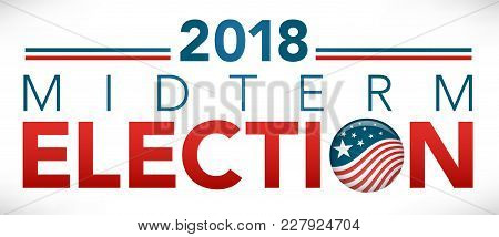 Election Header Banner W/ Vote And 2018 Midterm Election