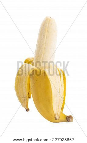 Banana Fresh An Isolated On White Background.
