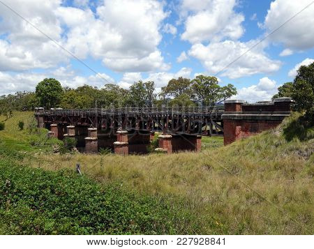 An Dilapidated Old Railway Bridge In Northern Rural New South Wales, Australia