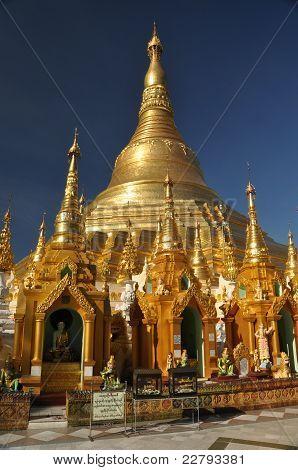 The main part of the Shwedagon Pagoda in Yangoon poster