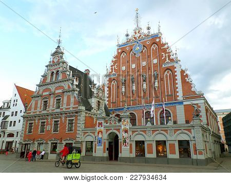 House Of The Blackheads, Unesco World Heritage Site In The Historical Center Of Riga, Latvia