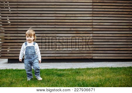 Portrait Of Toddler Child Outdoors. Portrait Of Toddler Child Outdoors.