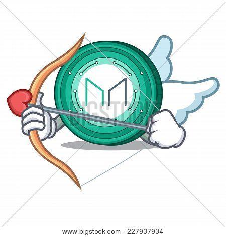 Cupid Maker Coin Character Cartoon Vector Illustration
