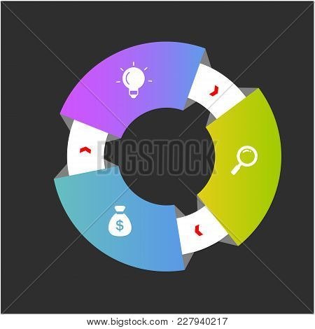 Cricle Ring 3d Infographics Design Vector Image