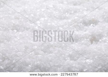 coarse grained sea salt background - full frame