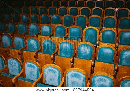 Seats are arranged in row in cinema