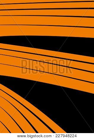 Background Stripes Field Imitation Field Orange Black Abstraction
