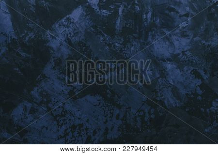 Marble Dark Stone Background With Blue Colors