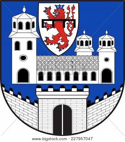 Coat Of Arms Of Wipperfuerth Is A Municipality In The Oberbergischer District Of North Rhine-westpha