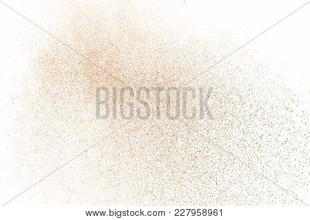 Brown Color Powder Splash Cloud Isolated On White Background