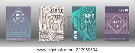 Abstract Covers From Lines. Modern Design Template. Rich Design Of Vip. Future Futuristic Template W